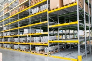Shelving units for pallets