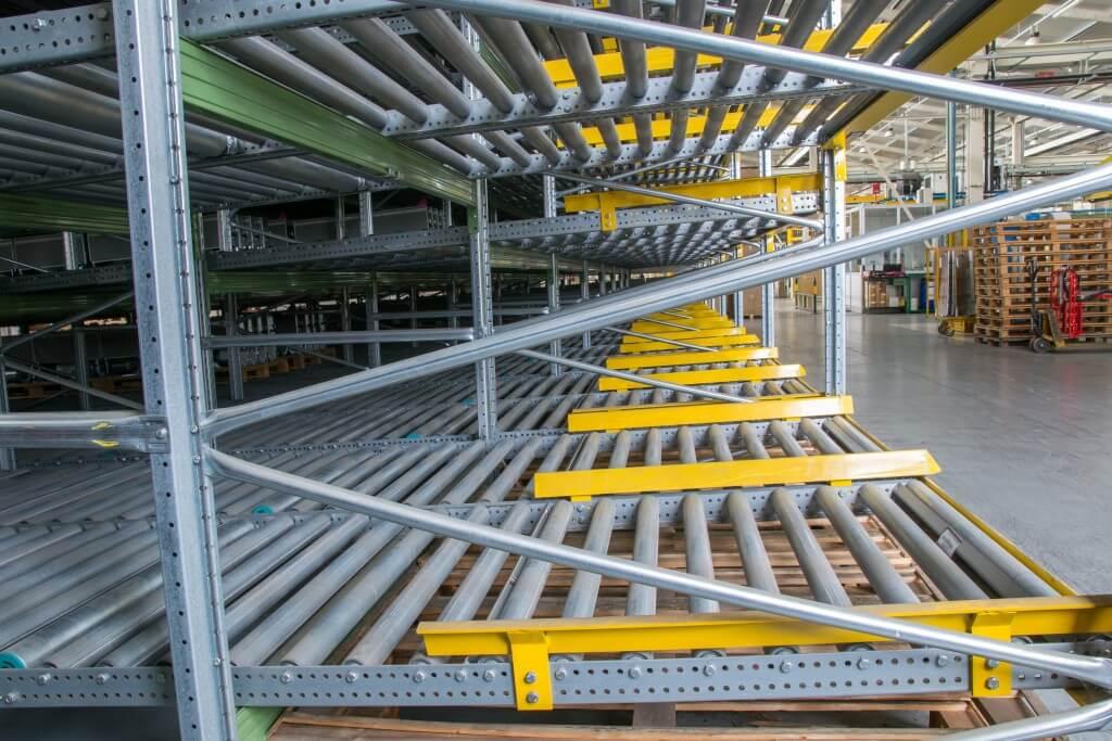 shelving gravity for pallets