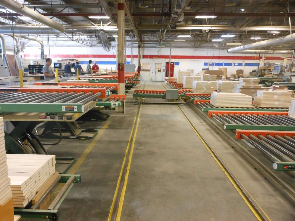 Warehouse with sortation systems