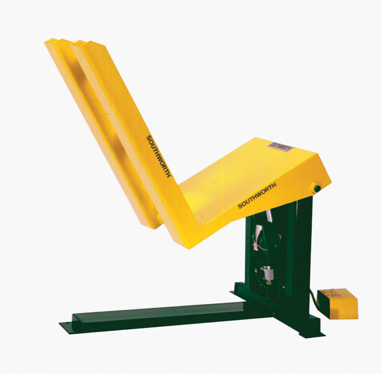 yellow container tilter